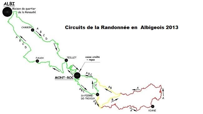Circuits Randonnée en Albigeois 2013