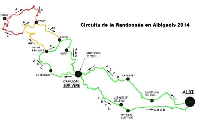 Circuits Randonnée en Albigeois 2014